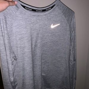 Grey Nike Work Out Long Sleeve Shirt